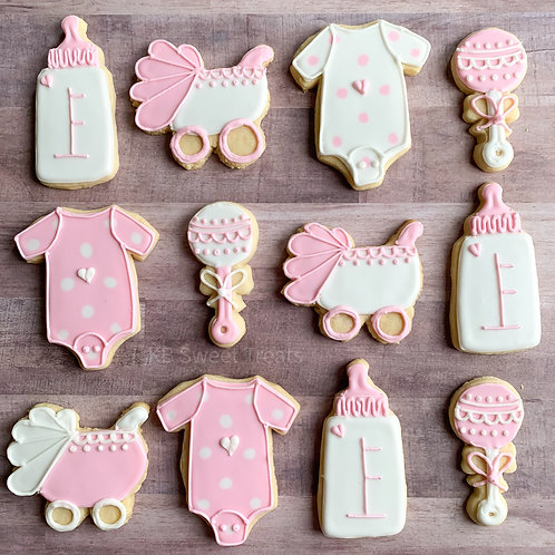 Girly Baby Shower Cookies