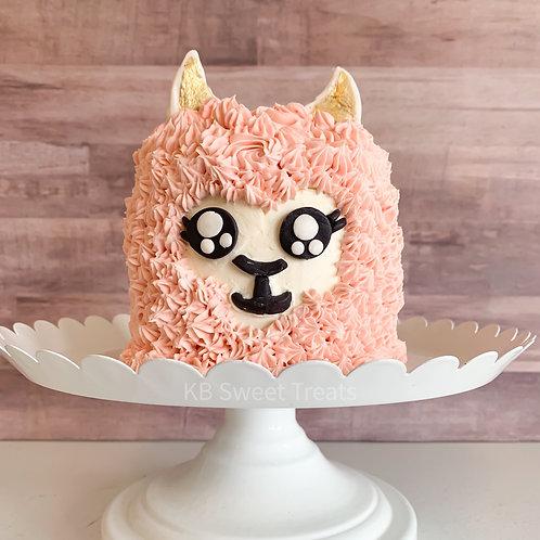 Pink Llama Cake