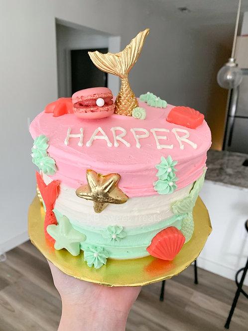 Girly Mermaid Cake