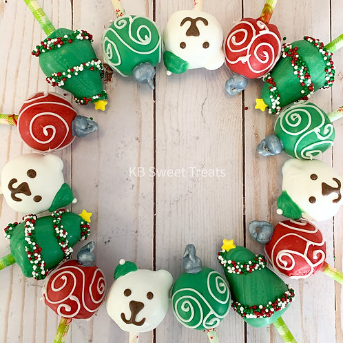Assorted Christmas Cake Pops