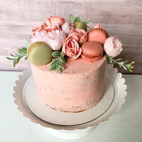 Feminine & Floral Naked Cake