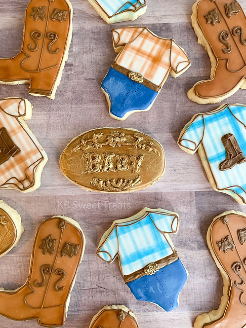 Cowboy Baby Cookies