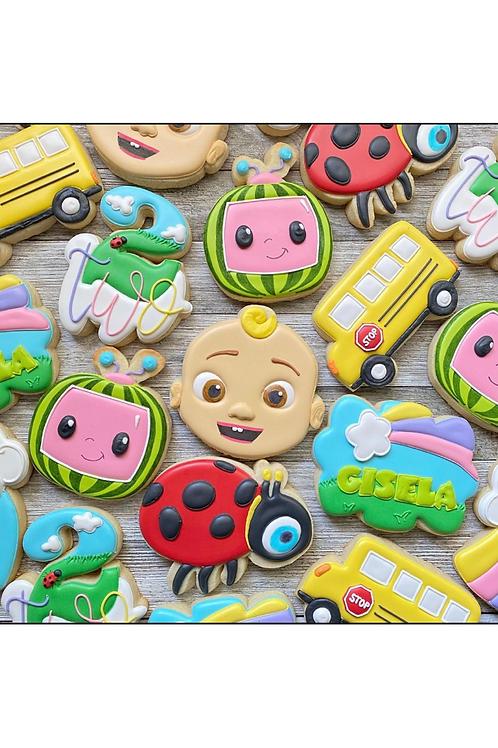Coco melon Cookies & Cake Pops 7/17