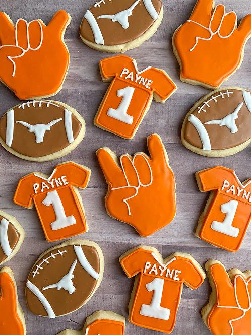 UT Football Cookies