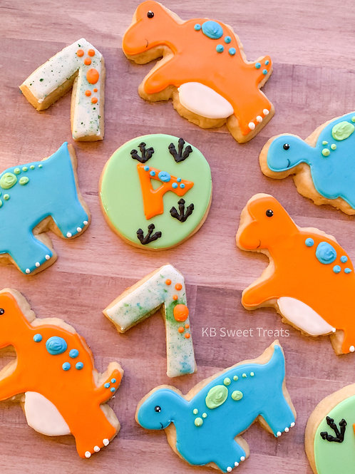 """A"" Dinosaur Cookies"