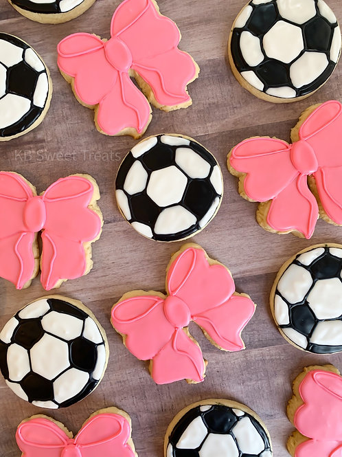 Bows and Balls Cookies
