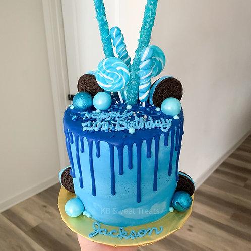 Blue Birthday Bash Cake