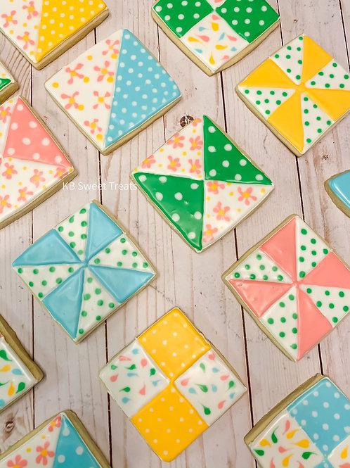 Quilt Block Cookies
