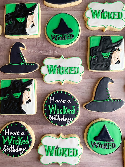 Wicked Birthday Cookies