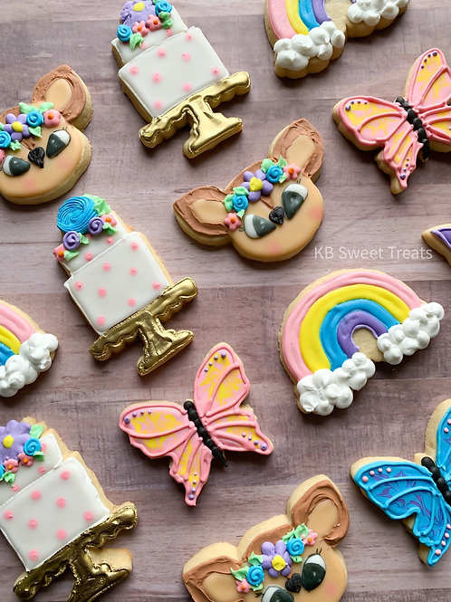 Flora & Fauna Birthday Cookies