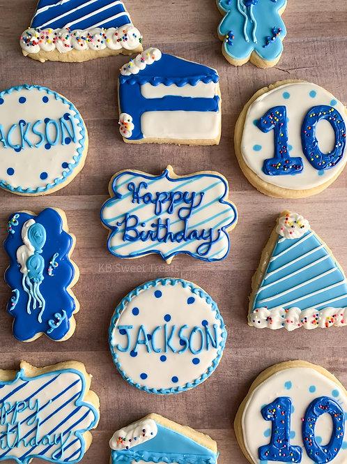 Blue Birthday Bash Cookies