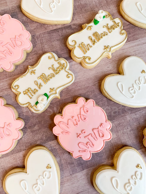Miss to Mrs Bridal Cookies