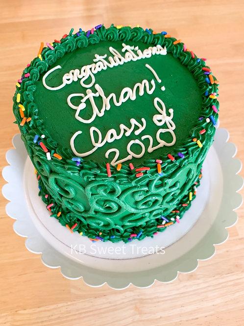 School Colors Graduation Cake