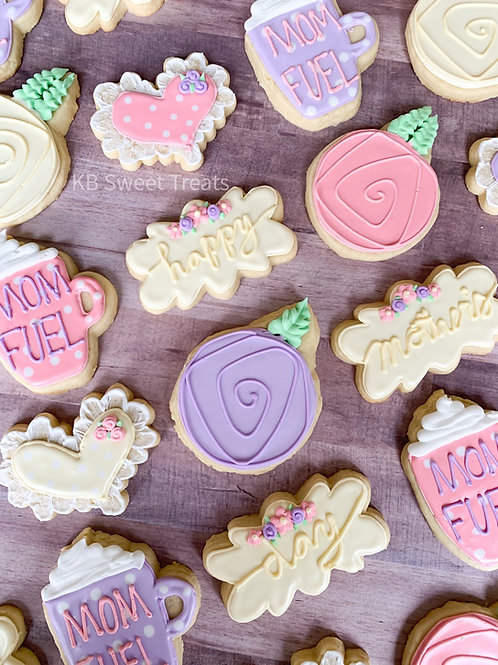 Pastel Mother's Day Cookies