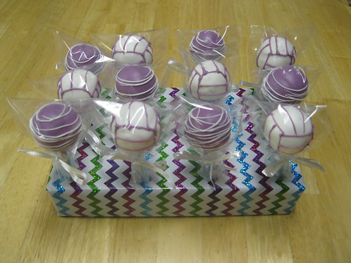 Volleyball Cake Pops