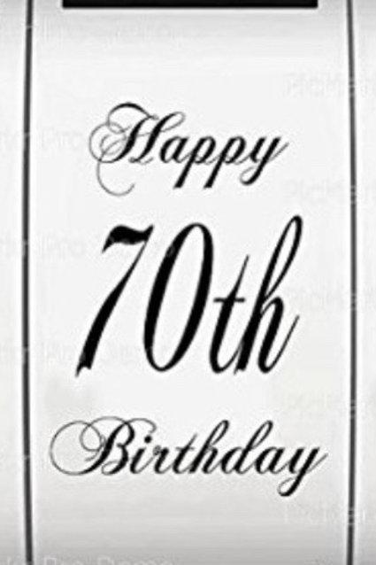 Lynda 70th Birthday Sheet Cake 5/15