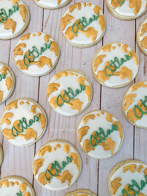 """Atlas"" Golden Globe Cookies"