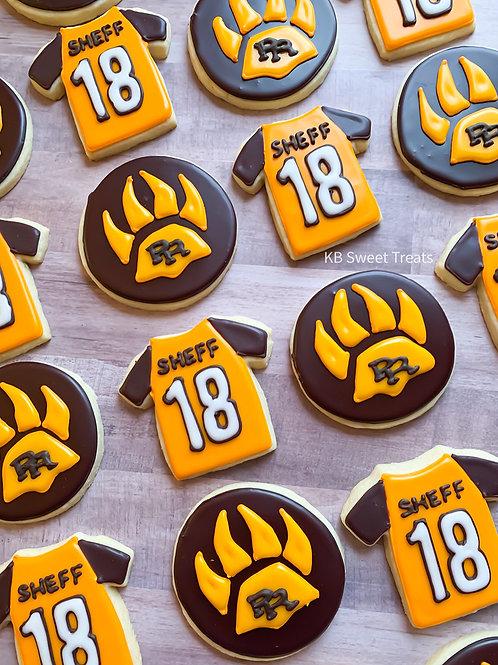 College Jersey Cookies