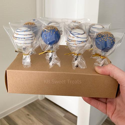 Blue & Gold Cake Pops