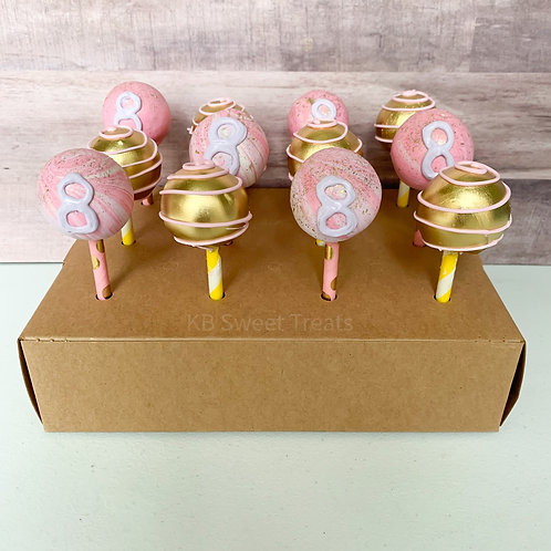 Marbled & Gold Cake Pops