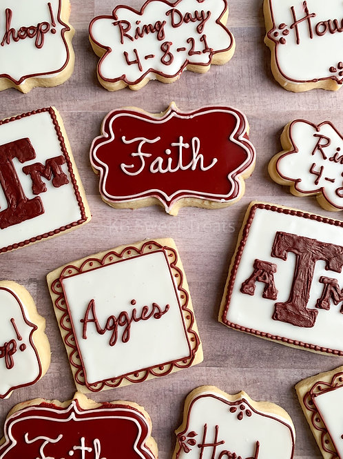 A&M Ring Day Cookies