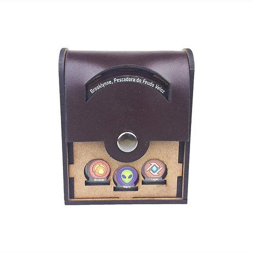 Keyforge: deckbox unitário tampa de couro