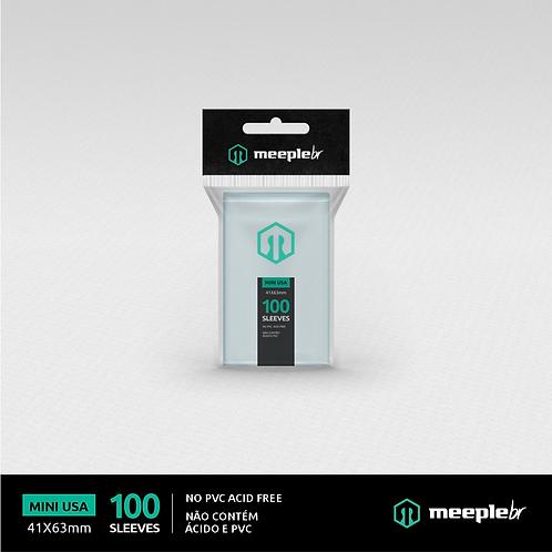 Sleeve Premium MeepleBR Mini Usa
