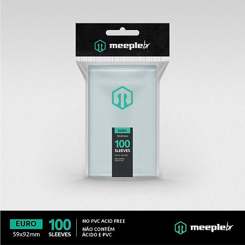 Sleeve Premium MeepleBR Padrão Euro