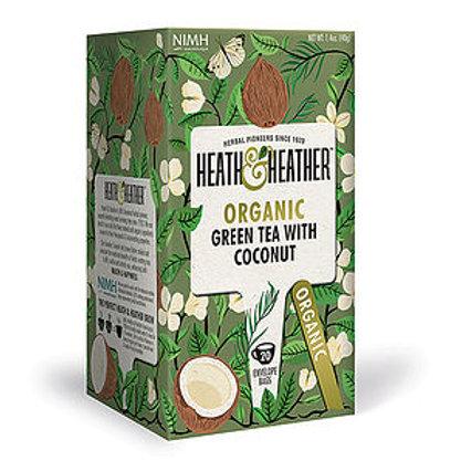 Organic Green Tea & Coconut 20 bags