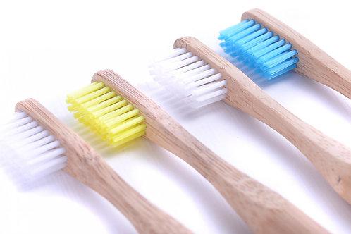 Bamboo Toothbrushes Set of 4 Medium Bristles