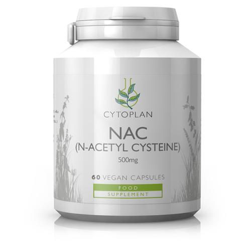 NAC (N-Acetyl Cysteine) 60 capsules (Cytoplan)