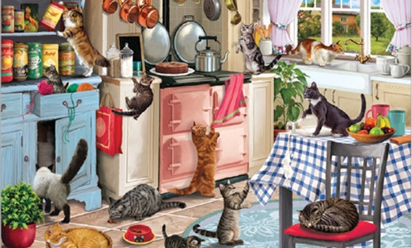 Cats in the Kitchen - Otter House 1000 Pieces