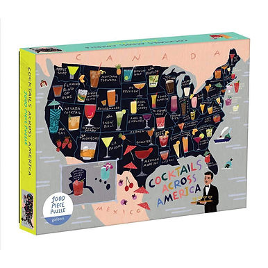 Cocktail Map Of The USA - 1000 Pieces