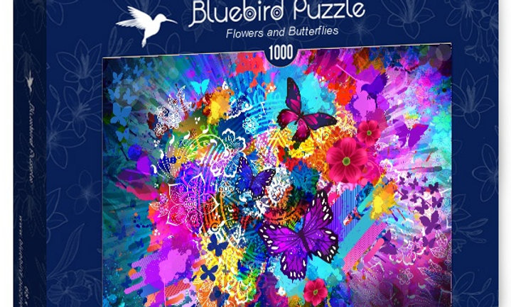 Flowers and Butterflies - 1000 Pieces