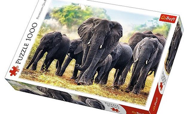 African Elephants 1000 Pieces