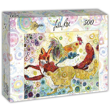 Sally Rich - Leaping Foxes 500 Pieces