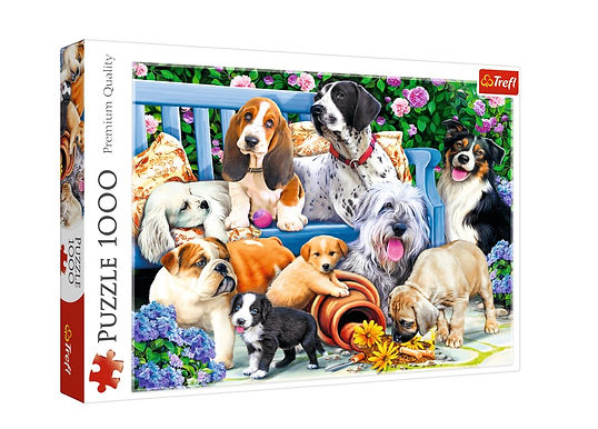 Dogs in the Garden 1000 Pieces