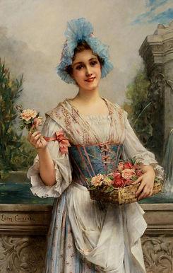 Léon François Comerre - The Flower Seller - 500 pieces