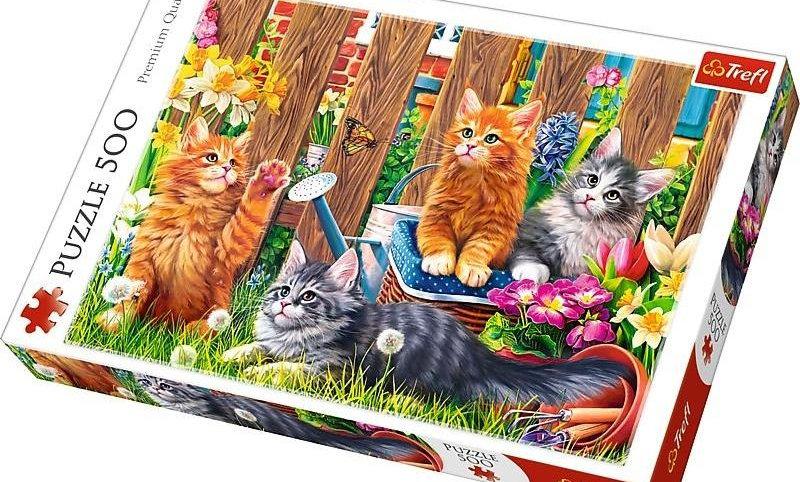 Little Kittens in the Garden 500 Pieces