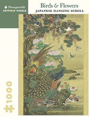Birds & Flowers: Japanese Hanging Scroll 1000-Piece