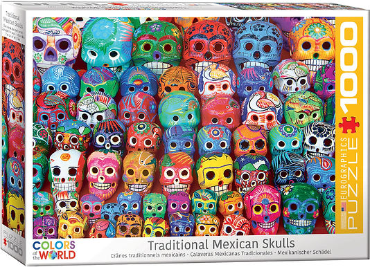 Traditional Mexican Skulls - 1000 Pieces
