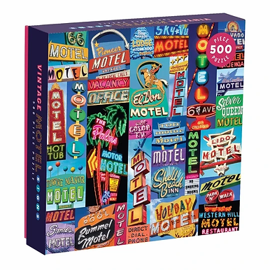 Vintage Motel Signs 500 Pieces