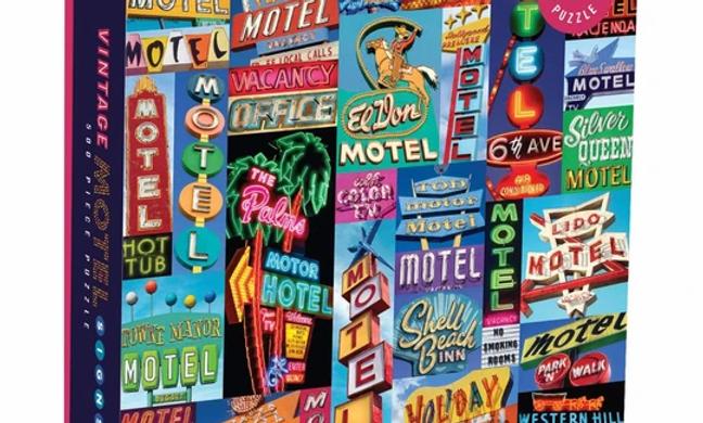 Vintage Motel Signs 500 Pieces