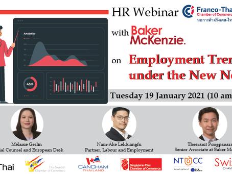 HR Webinar Baker McKenzie invitation: Employment Trends under the New Normal