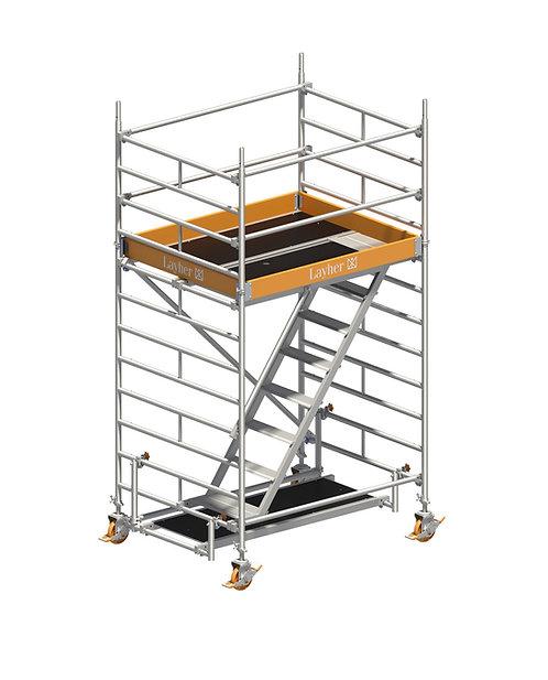 Treppengerüst Layher Uni Komfort Rollgerüst