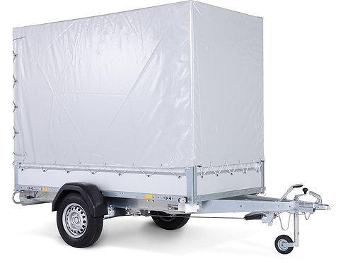 Stema STL 1300 O2 13-25-13.1 - SySTEMA light - Pkw Anhänger mit Plane grau und S