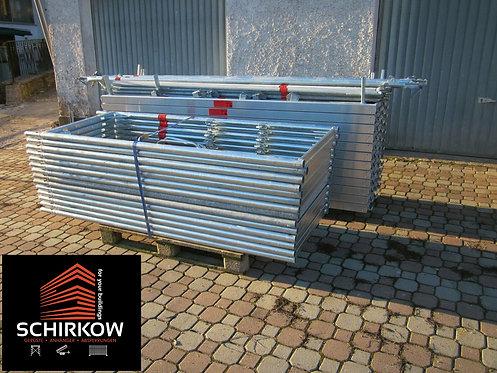 Layher Gerüst 100 m² - 3,07m Feld - Stahl Fassadengerüst Original