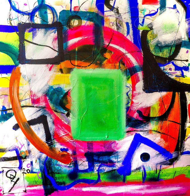 Vision Of The Rectangle Jade Sun Appearing In The Infinite Void