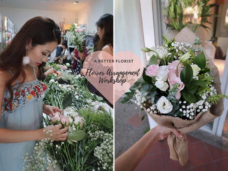Flower Arrangement Workshop with Abetterflorist