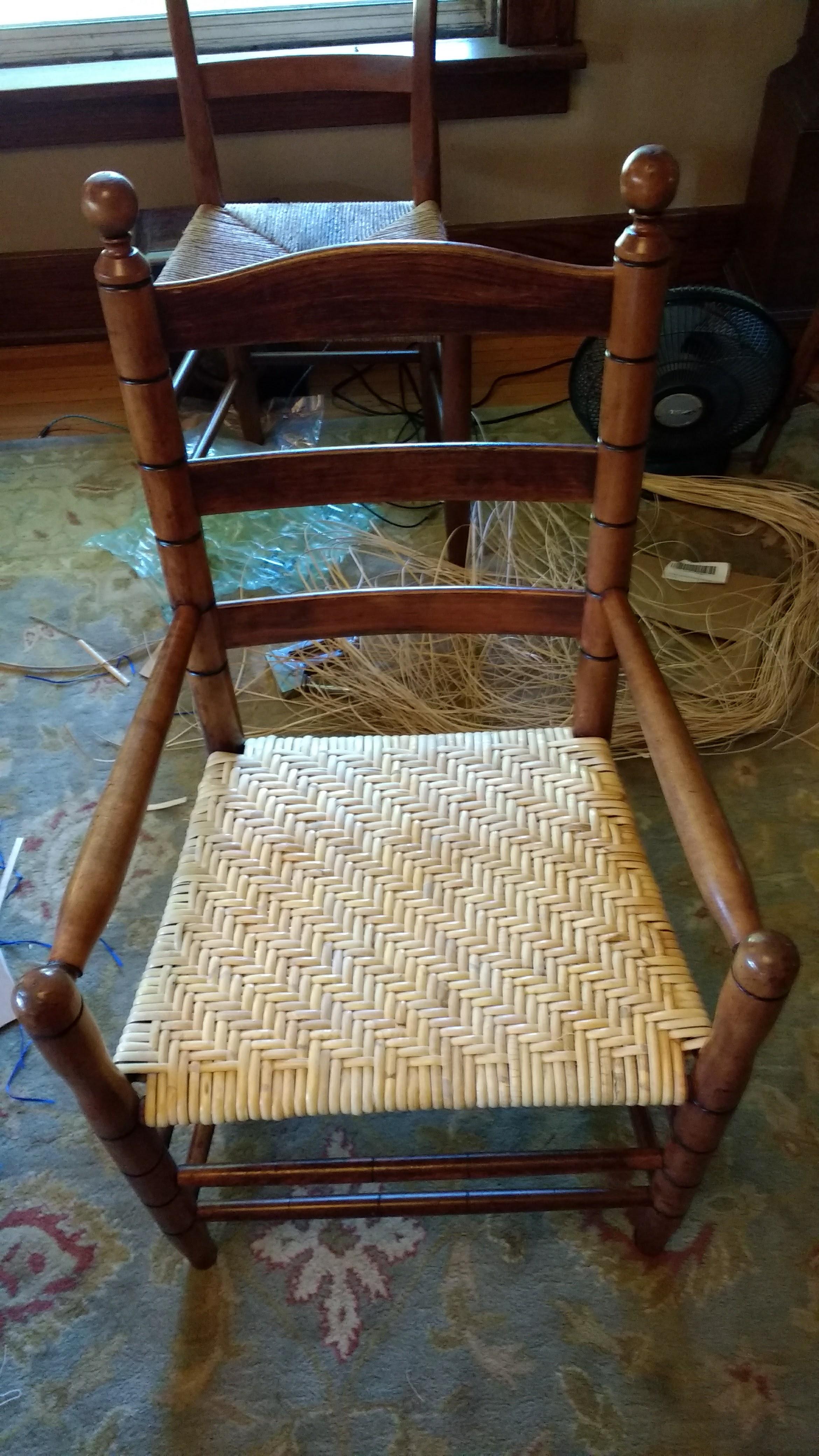 Herringbone Binder Cane Weave